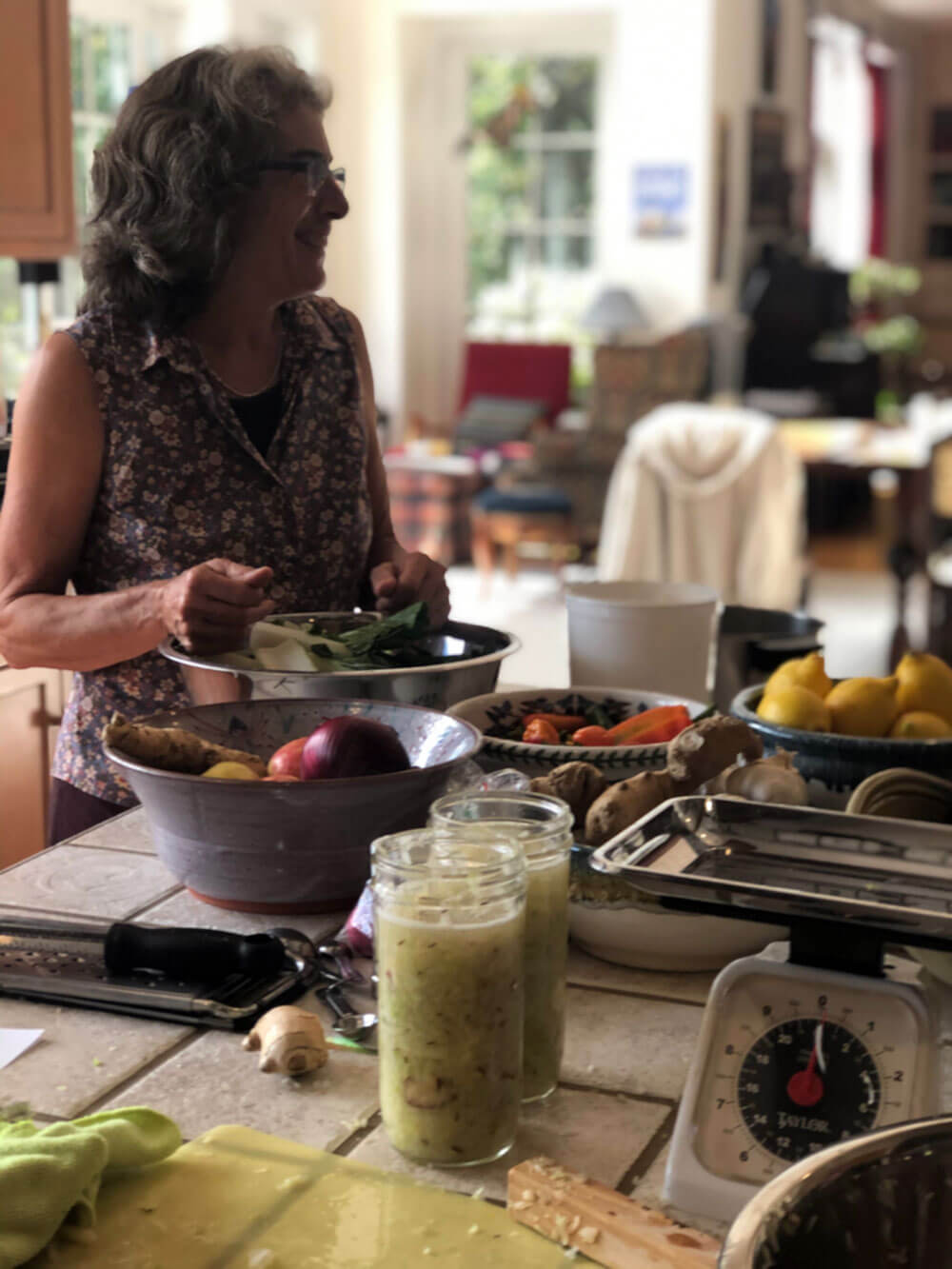 Karen Palcho offers fermentation classes at my home near Reading, PA